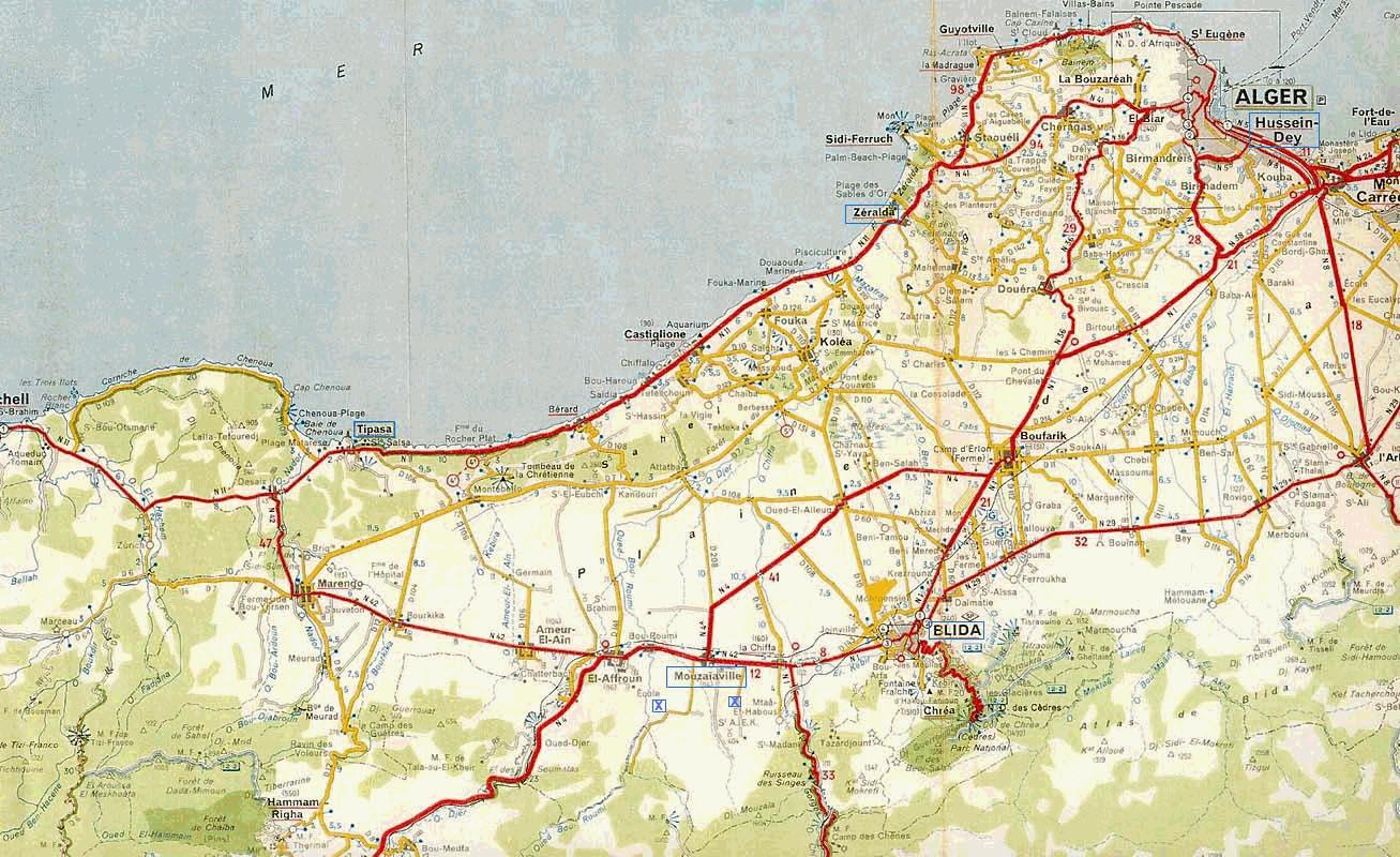 Carte Zeralda Algerie.Memoires De La Guerre D Algerie 1961 1963